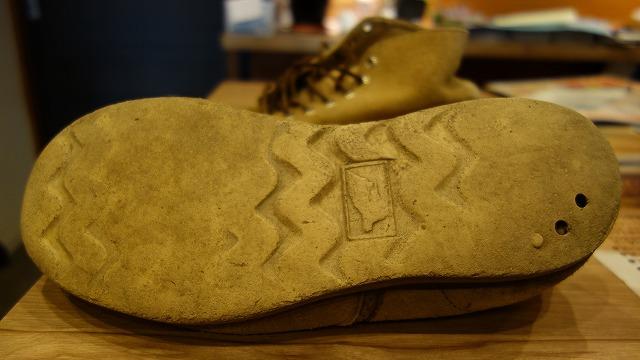 靴底の磨り減りBEFORE