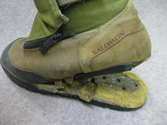 靴底の剥がれBEFORE